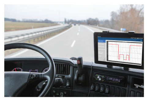 Electronic Logging Device (ELD) in Truck