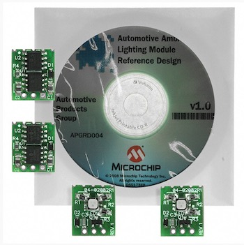 Microchip APGRD004 - Automotive Ambient Lighting Module Reference Design With LIN Interface