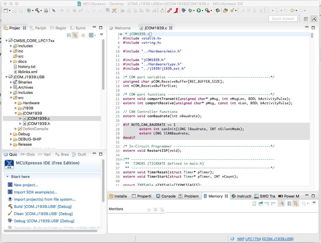 NXP - MCUXpresso Integrated Development Environment (IDE)